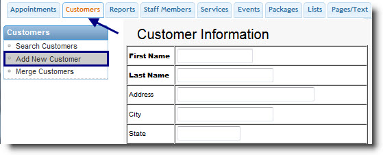 adding customer records