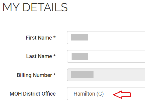Your physician details in MDBilling