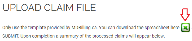 Downloading the billing template